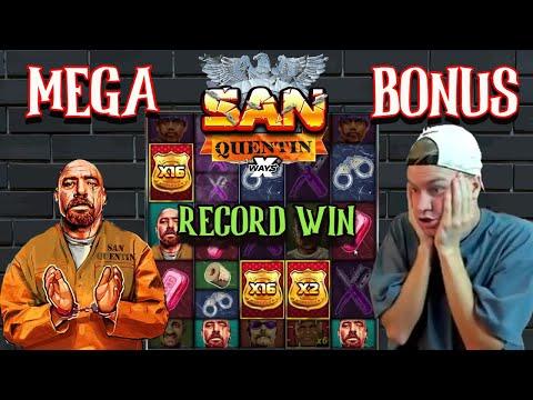 SAN QUENTIN Record Win !!! Mega win online slot… Top Win… Best wins…