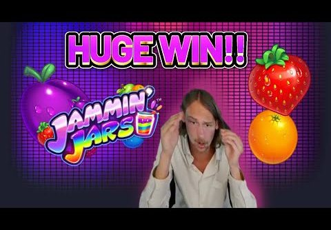 HUGE WIN! JAMMIN JARS BIG WIN – €6 bet on CASINO Slot from CasinoDaddys LIVE STREAM