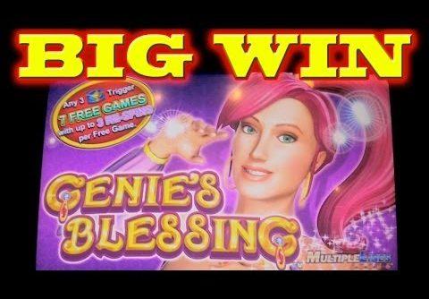 Genie's Blessing SUPER BIG WIN Las Vegas Slot Machine Winner
