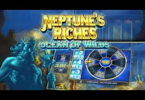 MEGA WIN. 34x WIN. WILD WIN.  BIG WIN. MEGA WIN. Free Spins. Neptune's Riches: Ocean Of Wilds Slot.