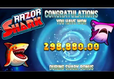 TOP 3 Biggest Wins on RAZOR SHARK Slot! He Got the 300 000€ WORLD RECORD WIN!!!