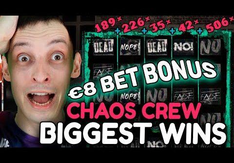 BIGGEST WINS CHAOS CREW SLOT + BIG BET BONUS
