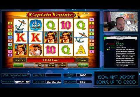 Mega Big Win!! Captain Venture Slot Gives Couple Retriggers!!