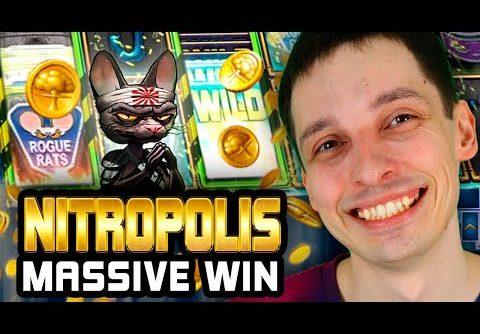 BIGGEST WINS on NITROPOLIS! MASSVIE BONUS BUY WIN! This SLOT is HOT!