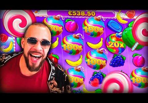 Streamer Crazy Epic Win +64 000$ on Sweet Bonanza slot – TOP 5 Biggest wins of the week