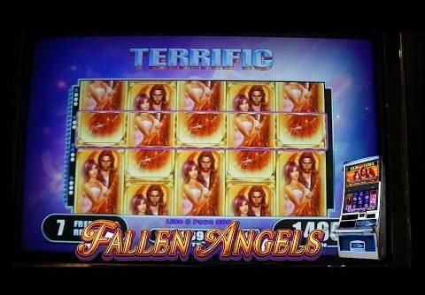 Fallen Angels FULL SCREEN + PROGRESSIVE JACKPOT Slot Machine Bonus SUPER MEGA BIG WIN