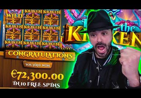 Roshtein BIG WIN 72 000€ on Release the Kraken Slot  Online Casino Biggest Wins of the week