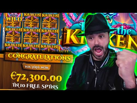 Roshtein BIG WIN 72 000€ on Release the Kraken Slot  Online Casino Biggest Wins of the week