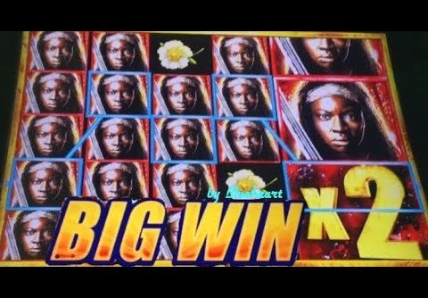 The WALKING DEAD 2 slot machine BONUS BIG WINS (MAJOR JACKPOT)