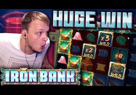 Super Big Win on the new IRON BANK Slot!