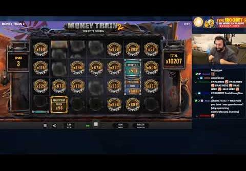 INSANE $115,000 WIN ON MONEY TRAIN 2, World Record, big win, slots, slot, casino, online slots