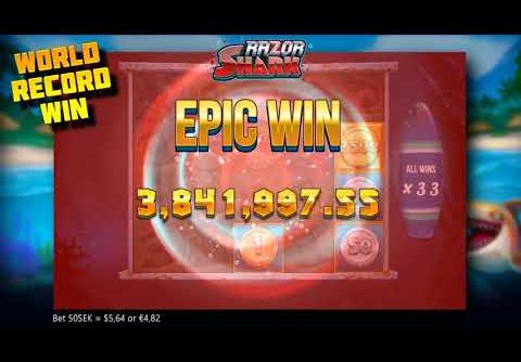 JACKPOT! Unknown player breaks all records in RAZOR SHARK SLOT! 400k euros!
