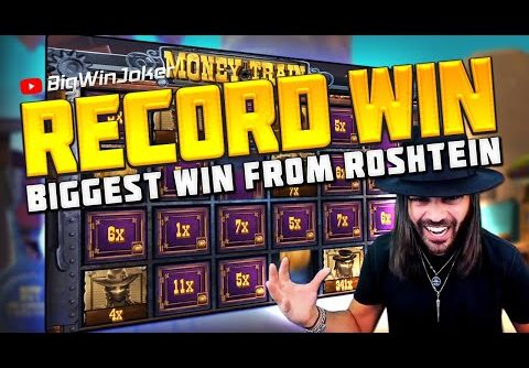 RECORD WIN! BIGGEST WIN IN  SLOT MONEY TRAIN FROM ROSHTEIN!