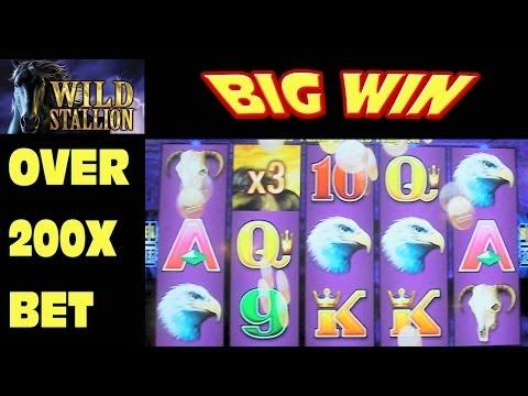 Wild Stallion -BIG WIN- Slot Machine Bonus Round Free Games