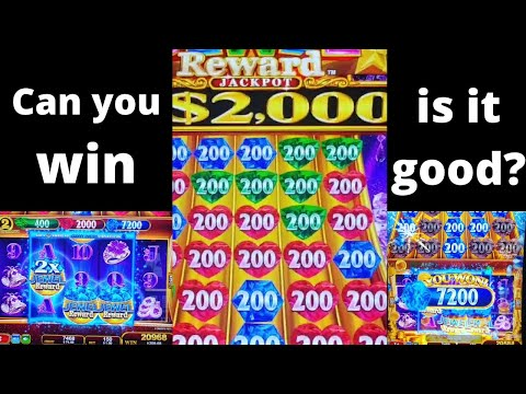 Jewel Reward New slot game by Konami Free games feature wins, Weird slot machine with no lines? How?