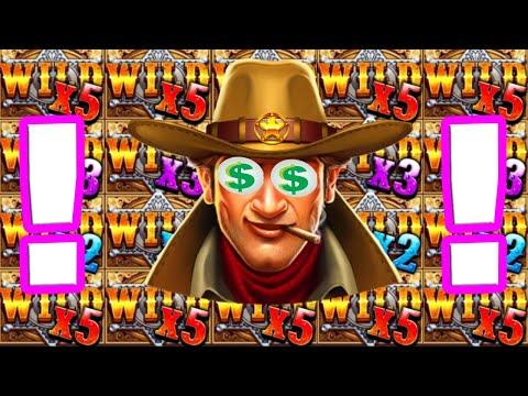 Wild West gold 🤠 HUGE MEGA BIG WINS €10 Bet 😱 Insane Sticky wild and RETRIGGER 4 STARS +12 SPINS‼️