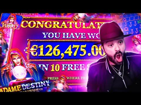 ROSHTEIN Insane Win 128.000€ on Madame Destiny Megaways Slot – TOP 5 Mega wins of the week