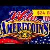 HUGE WIN! Wonder 4 Boost Wild Ameri'Coins Slot – up to $24 Max Bets!