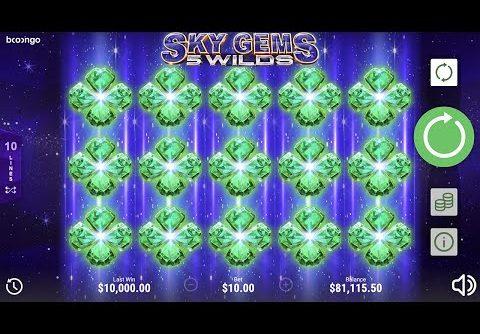 ONLINE SLOTS Sky Gems 5 Wilds 2 BigWin