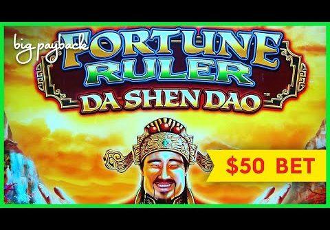 GREAT SESSION!! Fortune Ruler Da Shen Dao Slot – $50 Mega Play & More!