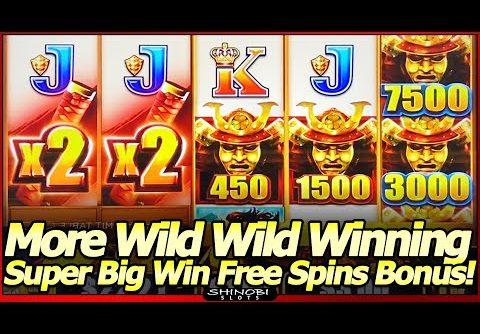 Wild Wild Samurai Slot Machine – Super Big Win Free Spins Bonus!  Wild Wild Winning Continues!