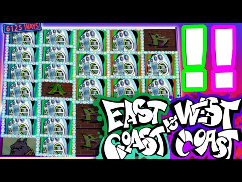 🔥New Slot East Coast vs West Coast Mega Big Win 🤑 The Slot just got Released and we Destroyed it‼️