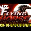 *BACK-TO-BACK BIG WINS!* FLYING HORSE   MEGA WILDS! Slot Machine Bonus (Ainsworth)