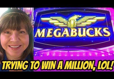 BIG WIN ON MEGABUCKS-TRYING TO WIN A MILLION-LOL
