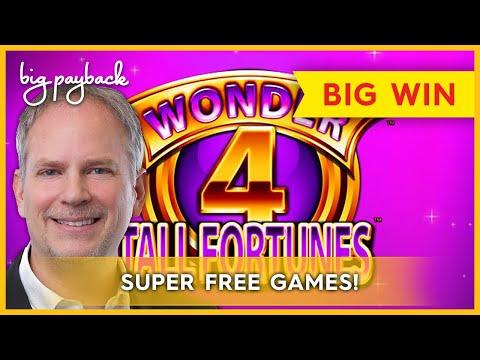 SUPER FREE GAMES! Wonder 4 Tall Fortunes Slot – $19.50 BET, HUGE WIN!