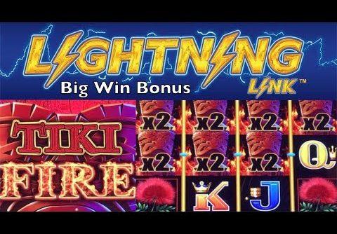 LIGHTNING LINK Slot Machine – TIKI FIRE – Very Big Win Bonus – Aristocrat Pokies 번개 링크 슬롯 머신