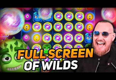ClassyBeef Full Screen of Wilds Win on Reactoonz slot – TOP 5 Biggest wins of the week