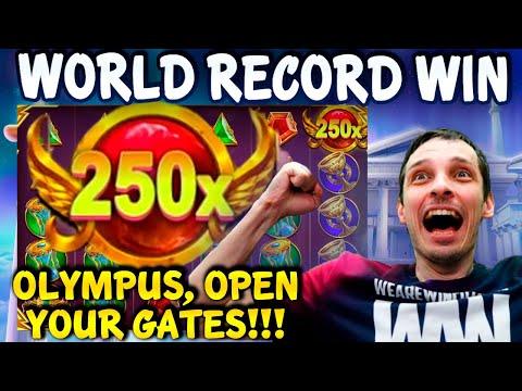 WORLD RECORD WIN GATES of OLYMPUS SLOT! BIGGEST WINS HIGHLIGHT