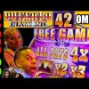 🤯 42 FREE GAMES With 4X MULTIPLIER!!! 🤯 HUGE WIN BUFFALO DIAMOND Slot Machine Bonus