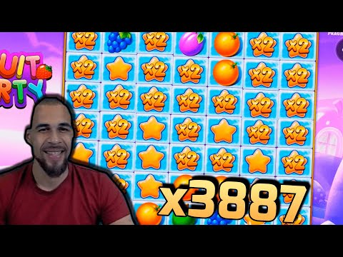 RECORD WIN! Streamer win x3887 in Fruit Party Slot! BIGGEST WINS OF THE WEEK! #28