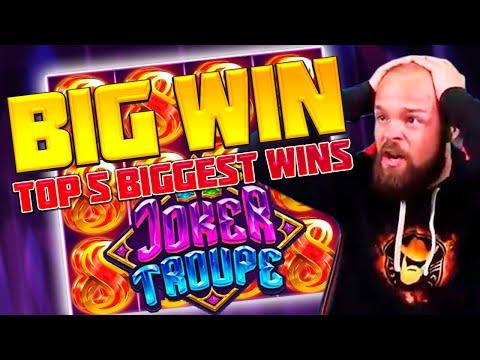 CLASSYBEEF – TOP 5 BIGGEST WINS OF THE WEEK | CRAZY WINNINGS IN SLOT JOKER TROUPE