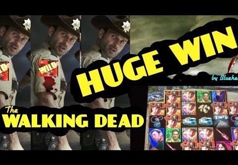 ** MASSIVE WIN ** The WALKING DEAD Slot machine max bet HUGE BONUS WIN!