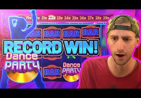WORLD RECORD WIN!!! DANCE PARTY BIG WIN – €5 BONUS ON CASINO SLOT FROM PRAGMATIC
