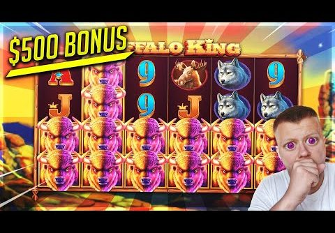 My BIGGEST Buffalo King Slot Win! 🤑