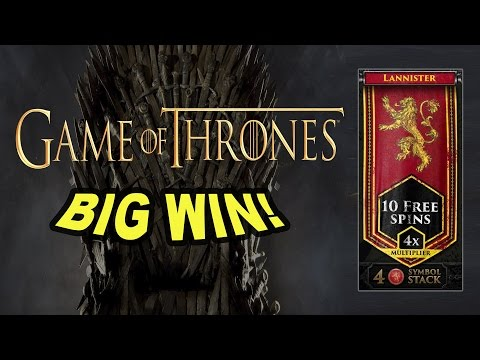 BIG WIN on Game of Thrones Slot – £0.90 Bet