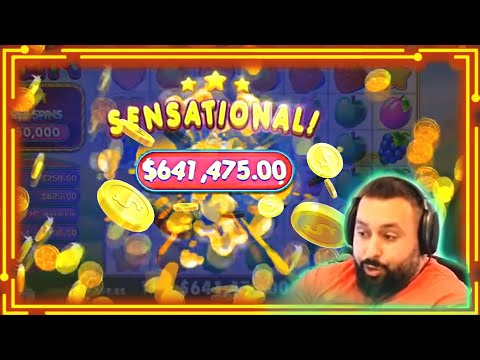 #2 SUPER RECORD INSANE WIN! Streamer Big Win on Fruit Party Slot! BIGGEST WINS OF THE WEEK! #76 1