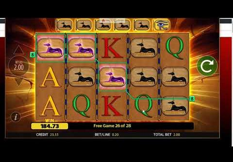 Eye Of Horus Slot with retrigger Big Win