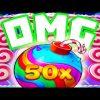 Sweet Bonanza 🍭 Slot Bonus Buys and Big Wins I Asked for a 50X 🤑Bomb and I Got It OMG‼️