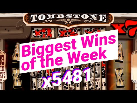 🔴 BIGGEST WINS OF THE WEEK #7 – Tombstone slot x5481  – 🚨ONLINECASINOPOLICE🚨 COMPILATION