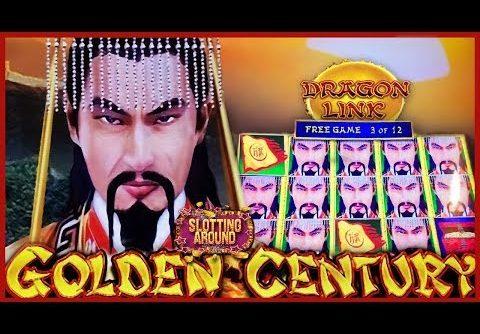 Dragon Link Golden Century Slot Machine Big Win Live Play!