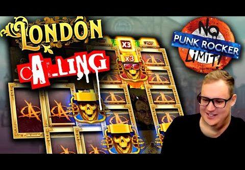 MEGA BIG WIN on Punk Rocker Slot!