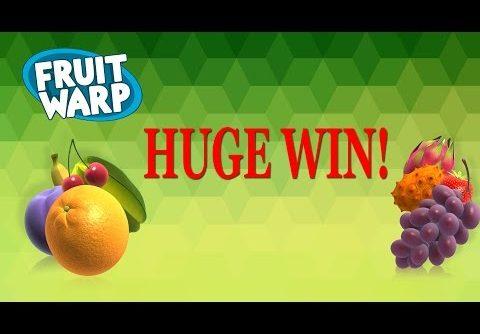 HUGE WIN on Fruit Warp Slot – £5 Bet!