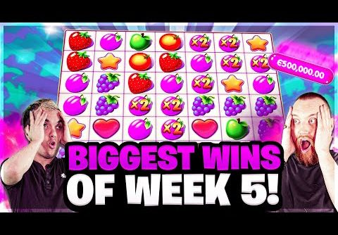 Biggest Wins ever on FRUIT PARTY, GEMS BONANZA and CRAZY TIME and more | Biggest Wins of the Week 5