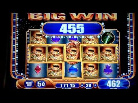 Dragon's Fire WMS 5¢ Slot Machine Replicating Wild Feature SUPER BIG WIN