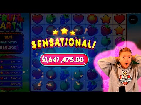 SUPER RECORD INSANE WIN! Streamer Big Win on Fruit Party Slot! BIGGEST WINS OF THE WEEK! #76
