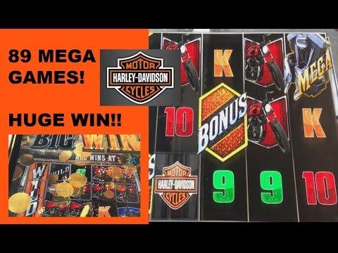 ** HUGE WIN!! ** 89 MEGA SPINS ON HARLEY DAVIDSON SLOT!